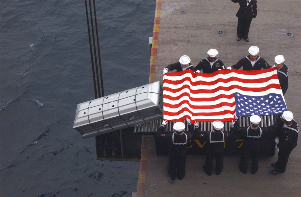 American Sea Burial via www.commons.wikimedia.org